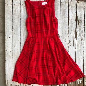 Red Plaid Fall Dress